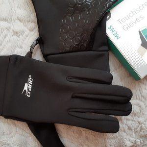 💥NWT💥Touchscreen Gloves Mens XL Black Palm Grip